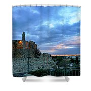 David Tower At Sunset  Shower Curtain