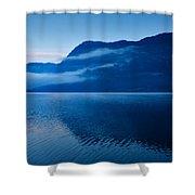 Dawn At Lake Bohinj In Slovenia Shower Curtain