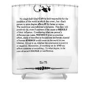 Decree Shower Curtain