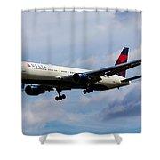 Delta Airlines Boeing 767 Shower Curtain