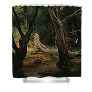 Departure For The Hunt In The Pontine Marshes Shower Curtain