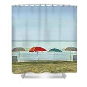 Deserted Beach. Shower Curtain