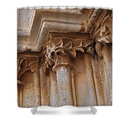 Detail Of The Medieval Portal Of Saint Marys Church In Tavira. Portugal Shower Curtain