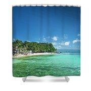 Diniwid Beach In Tropical Paradise Boracay Philippines Shower Curtain