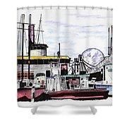 Docks Shower Curtain
