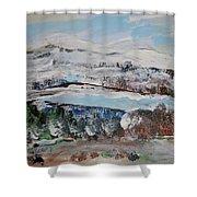 Donner Lake Shower Curtain