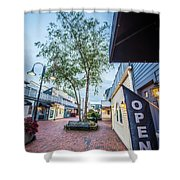 Downtown Of Newport Rhode Island At Dusk Hours Shower Curtain