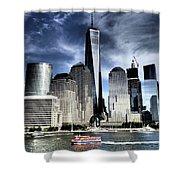 Dramatic New York City Shower Curtain