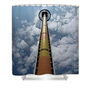 Drop Tower Shower Curtain
