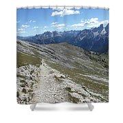 Durrenstein, Dolomites, Italy Shower Curtain