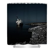 Edro IIi Shipwreck - Cyprus Shower Curtain