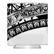 Eiffel Tower Detail Shower Curtain