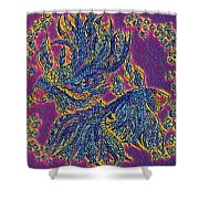 2 Electric Fish Shower Curtain