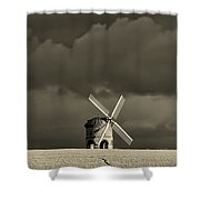 English Windmill Shower Curtain