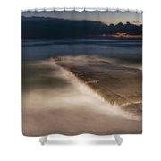 Genova Wavescape - Onde Sul Molo Con Faro Shower Curtain