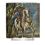 Equestrian Portrait Of The Duke Of Lerma Shower Curtain