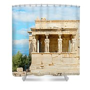 Erechtheion Temple On Acropolis Hill, Athens Greece. Shower Curtain