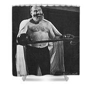 Ernest Hemingway Shower Curtain by Granger