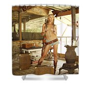 Everglades Cowgirl Shower Curtain