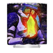 Execute Order 66 Blue Team Commander - Texturized Style Shower Curtain