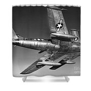 F-86 Jet Fighter Plane Shower Curtain