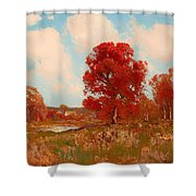 Fall Landscape Shower Curtain