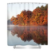 Fall Sunrise At Cox Hollow Lake In Governor Dodge State Park Shower Curtain