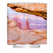 famous Mesa Arch in Canyonlands National Park Utah  USA Shower Curtain