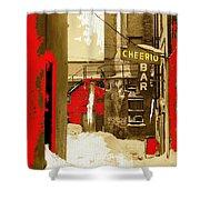 Film Noir William H. Macy Steve Buscemi Fargo 1996 Cheerio Bar Aberdeen South Dakota 1965-2008 Shower Curtain