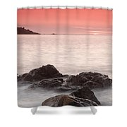 Fine Art- St Ives At Sunset By Phill Potter Shower Curtain