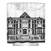 Fine Arts Building - Ball State University Shower Curtain