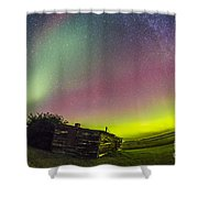 Fish-eye Lens View Of The Northern Shower Curtain