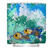 2 Fish Shower Curtain