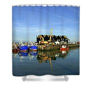 Fishing Boats At Whitstable Harbour 03 Shower Curtain