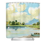Fishing Lake Shower Curtain