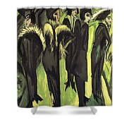 Five Women At The Street Shower Curtain