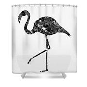 Flamingo-black Shower Curtain