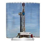Flex Drill Rig Shower Curtain
