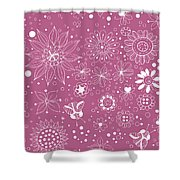 Floral Doodles Shower Curtain