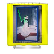 Florescent Lighting Gale Shower Curtain