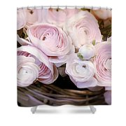 Flower With Painting. Shower Curtain