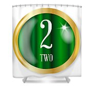 2 For Two Shower Curtain