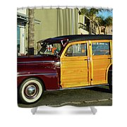 Ford California Woody Station Wagon Shower Curtain