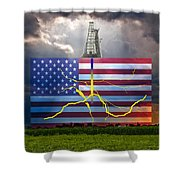 Fracking In The U.s Shower Curtain