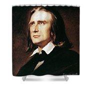 Franz Liszt (1811-1886) Shower Curtain