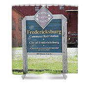 Fredericksburg Rail Station Shower Curtain