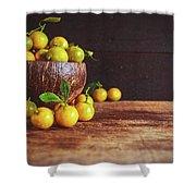 Fresh Kumquat Fruits Shower Curtain