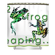 2 Frogs Leaping Shower Curtain