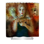Game Of Thrones. Daenerys. Mother Of The Dragons. Shower Curtain