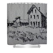 Garnet Ghost Town Montana Shower Curtain